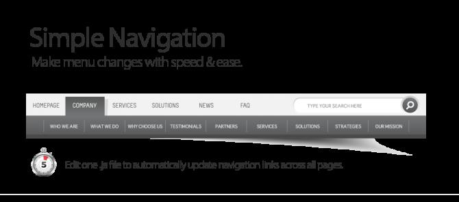 Simple Menus Navigation